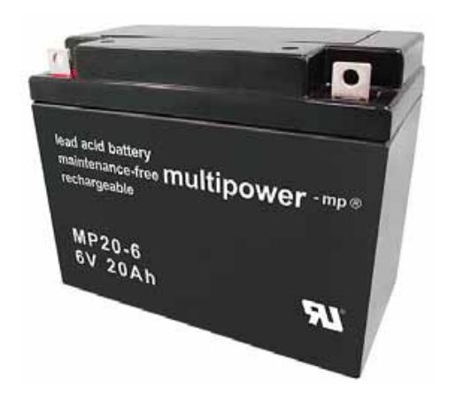 MP20-6 - 6V 20Ah AGM Algemeen gebruik van Multipower