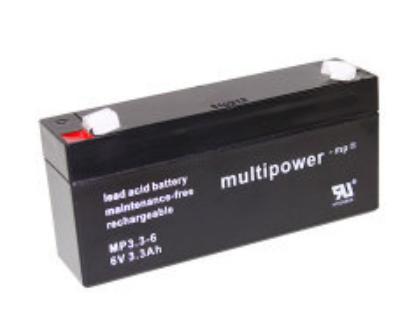 MP3.3-6 - 6V 3,3Ah AGM Algemeen gebruik van Multipower