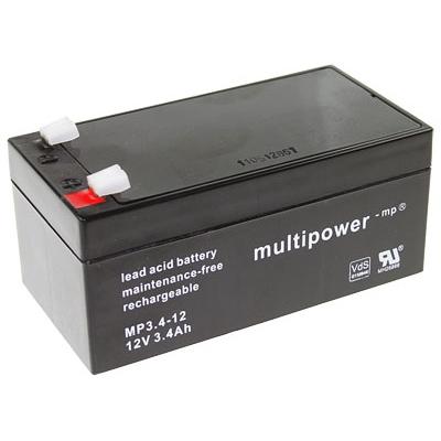 MP3.4-12 - 12V 3,4Ah AGM Algemeen gebruik van Multipower