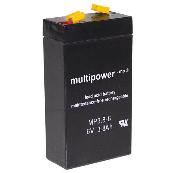 MP3.8-6 - 6V 3,8Ah AGM Algemeen gebruik van Multipower