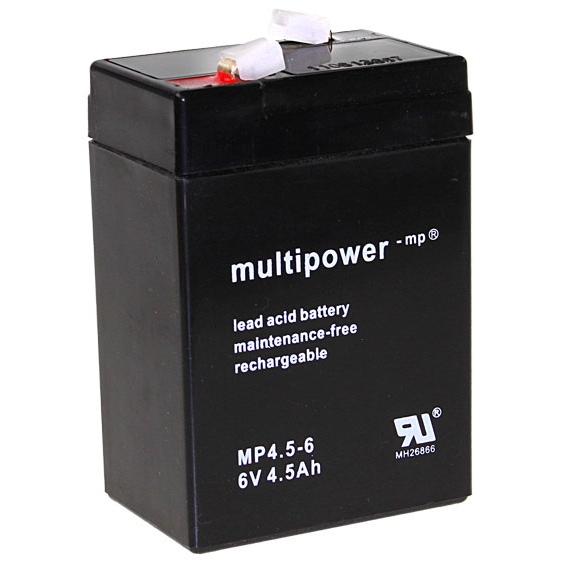 MP4.5-6 - 6V 4,5Ah AGM Algemeen gebruik van Multipower