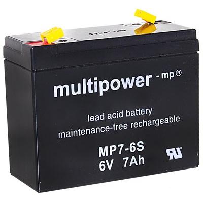 MP7-6S - 6V 7Ah AGM Algemeen gebruik van Multipower