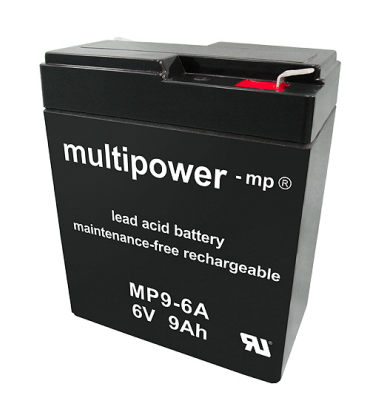MP9-6A - 6V 9Ah AGM Algemeen gebruik van Multipower
