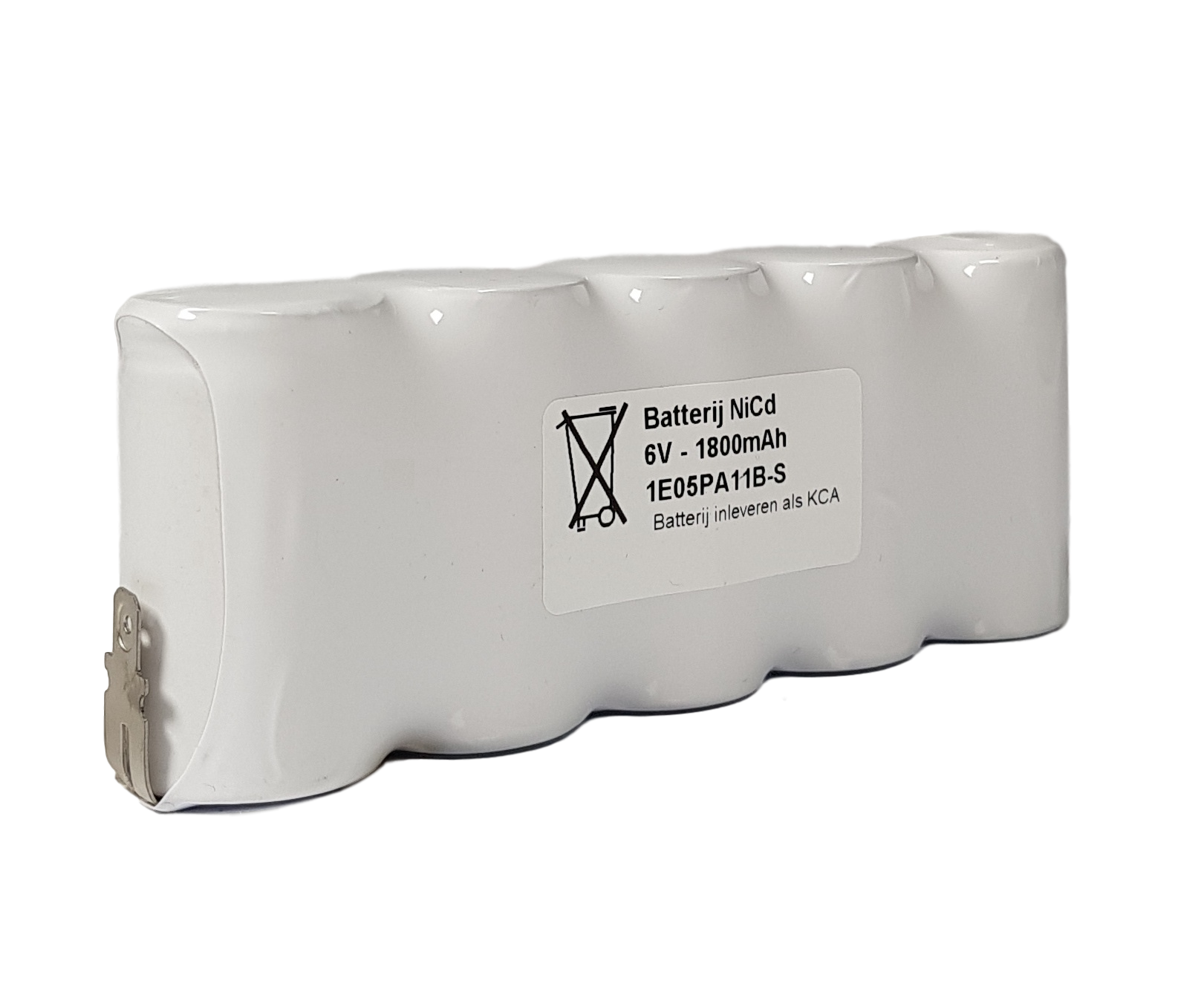 Noodverlichting accu NiCd 6V 1800mAh Cs 5SBS - Faston 4,8mm