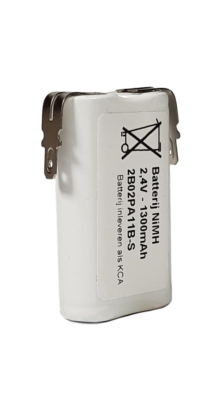 Noodverlichting accu NiMH 2,4V 1300mAh AA 2SBS - Faston 4,8mm
