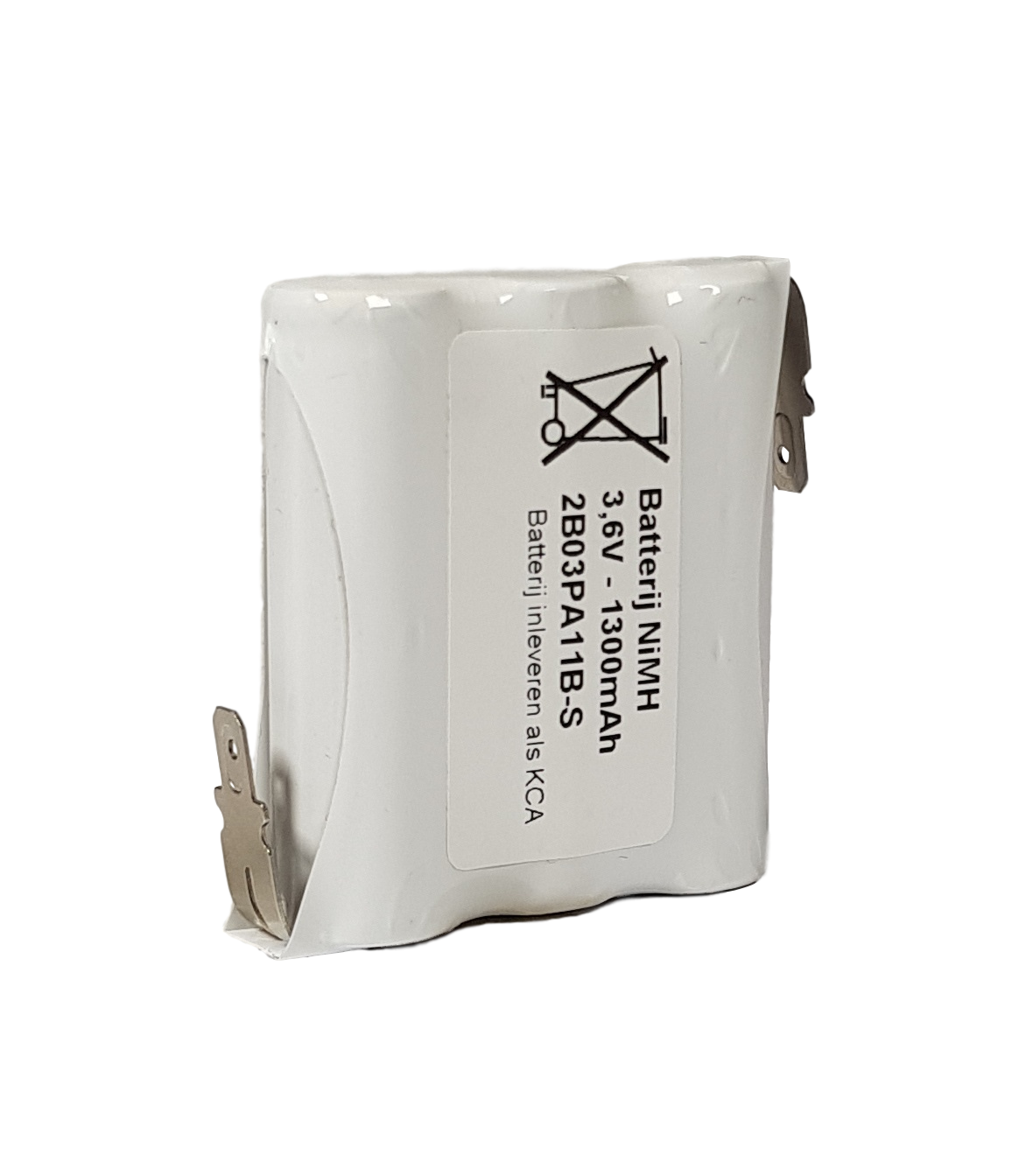 Noodverlichting accu NiMH 3,6V 1300mAh AA 3SBS - Faston 4,8mm