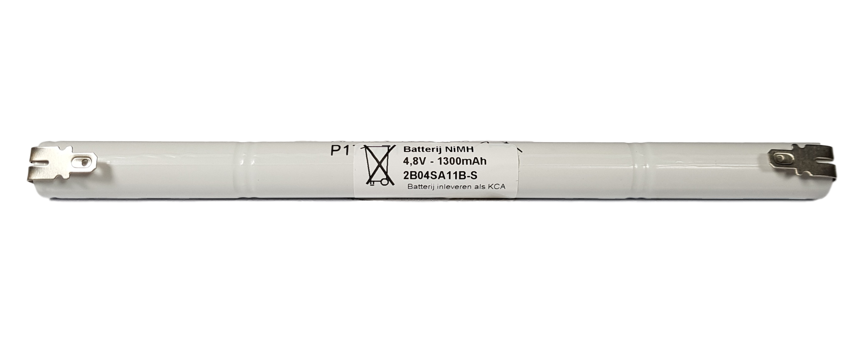 Noodverlichting accu NiMH 4,8V 1300mAh AA 4STAAF - Faston 4,8mm