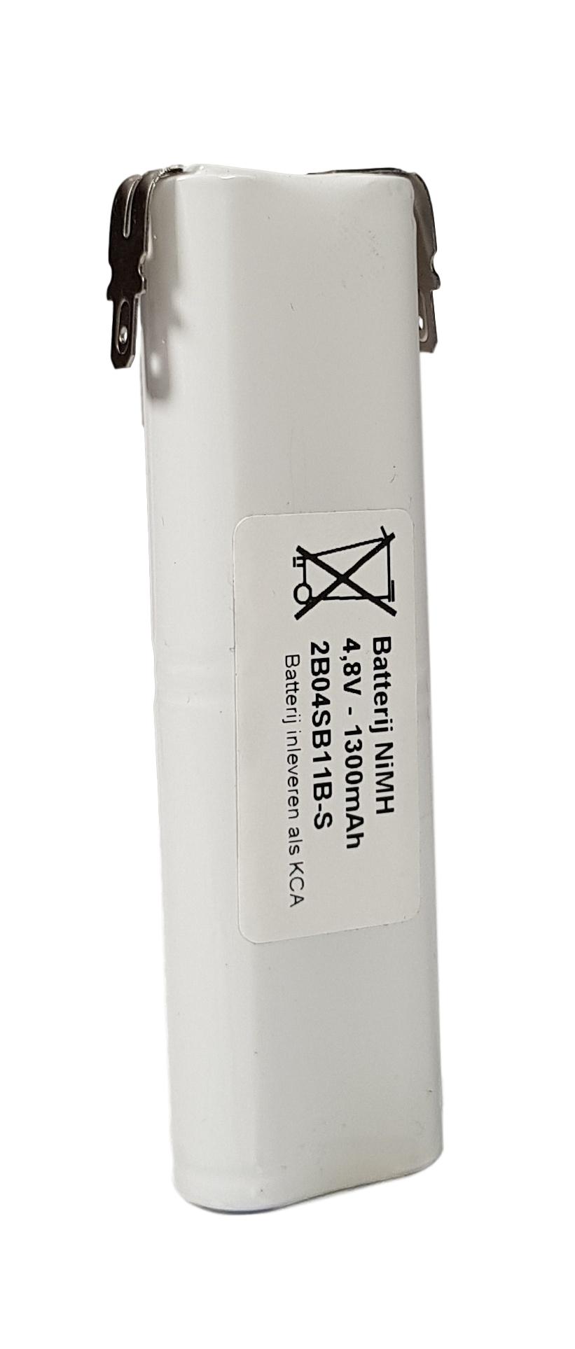 Noodverlichting accu NiMH 4,8V 1300mAh AA 4STAAFSBS - Faston 4,8mm