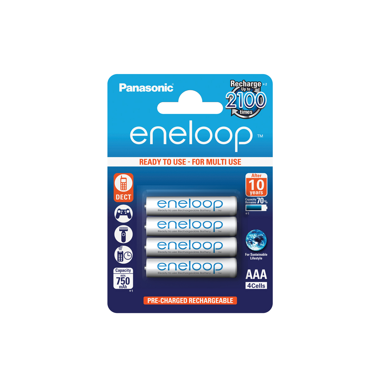 Panasonic Eneloop AAA BL4