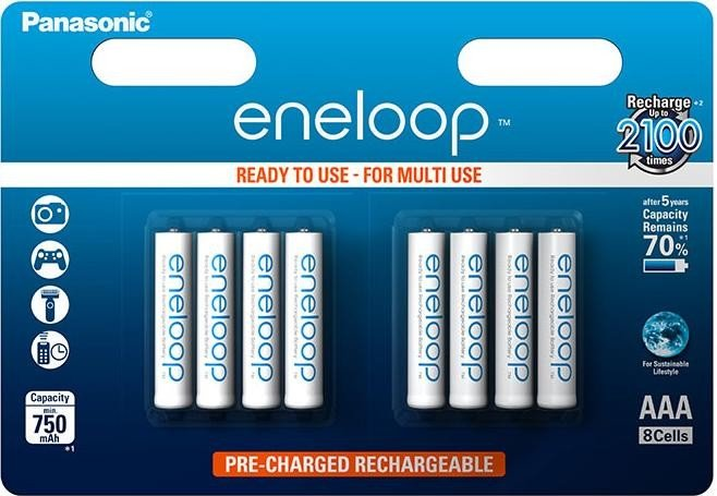 Panasonic Eneloop AAA BL8
