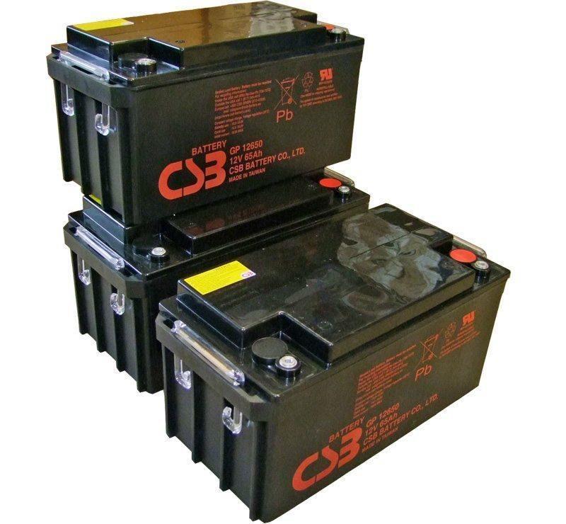 UPS noodstroom accu 3 x GP12650I van CSB Battery