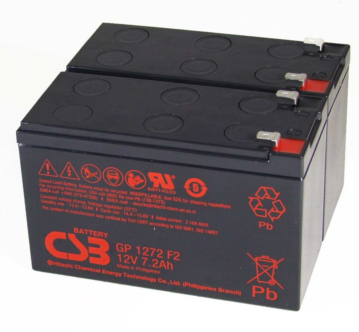 UPS vervangings batterij 2 x GP1272F2 CSB Battery