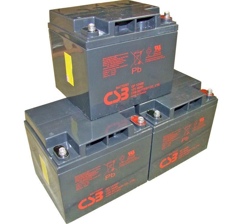 UPS noodstroom accu 3 x GP12400I van CSB Battery