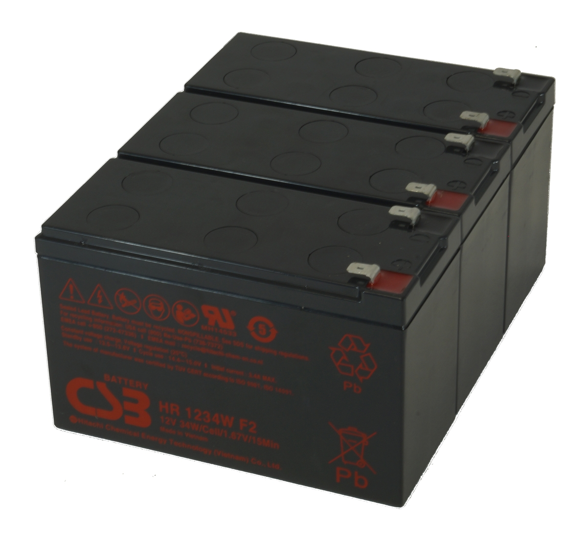 UPS vervangings batterij 3 x HR1234WF2 CSB Battery