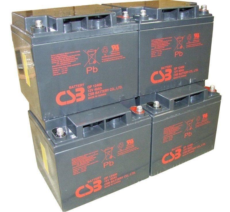 UPS noodstroom accu 4 x GP12400I van CSB Battery