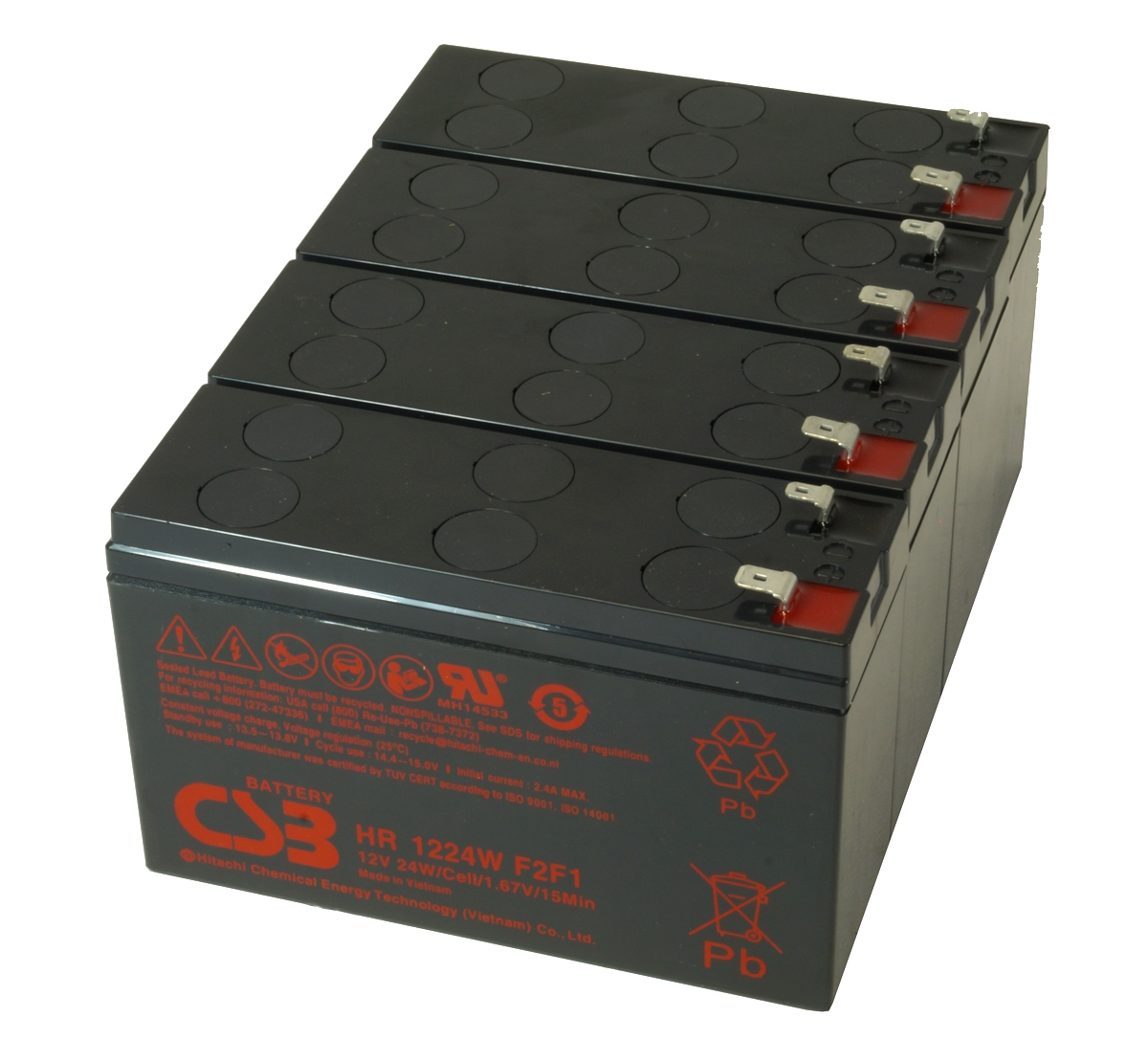UPS vervangings batterij 4 x HR1224WF2F1 CSB Battery