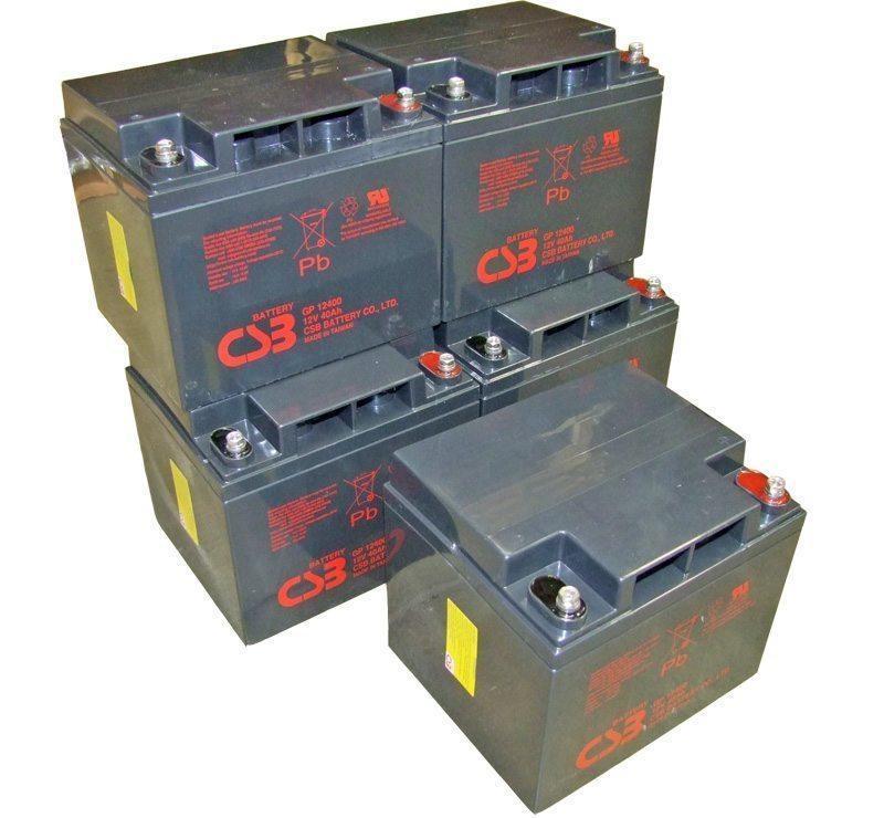 UPS noodstroom accu 5 x GP12400I van CSB Battery