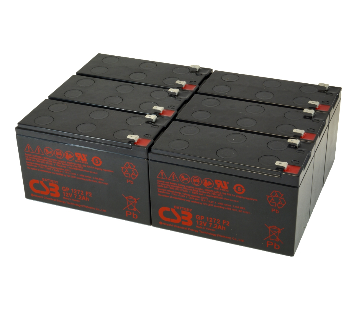 UPS vervangings batterij 6 x GP1272F2 CSB Battery