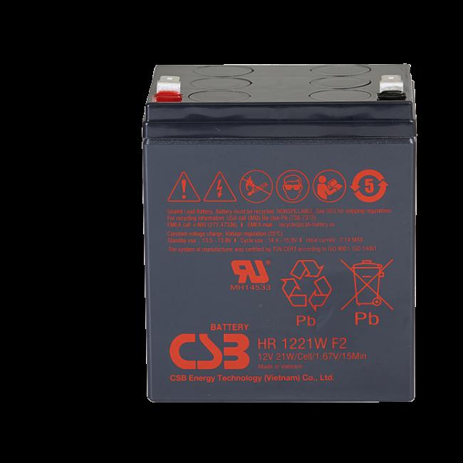 UPS RBC140 noodstroom accu 16 x HR1221WF2 van CSB Battery