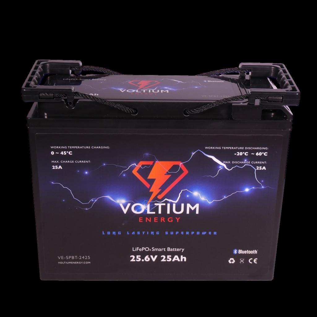 Voltium Energy® LiFePO4 accu 25,6V 25Ah met APP