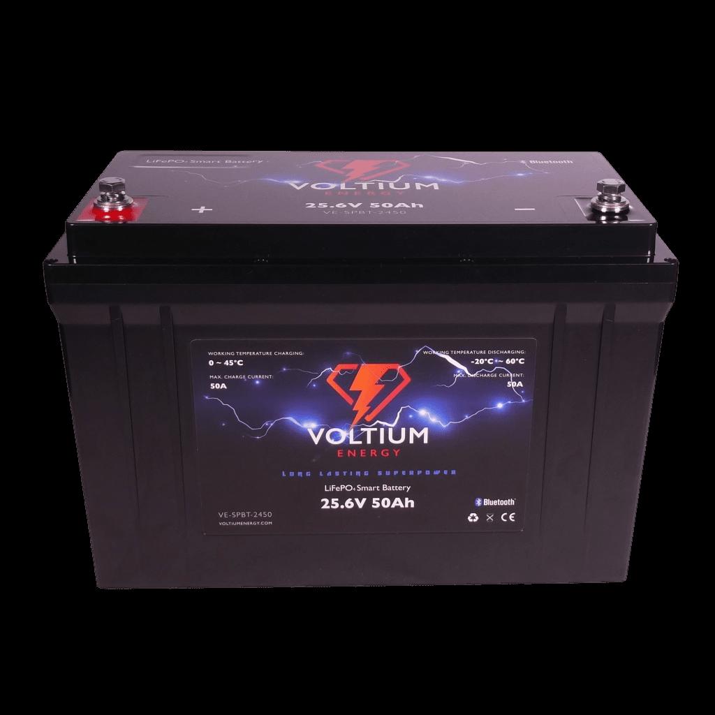 Voltium Energy® LiFePO4 accu 25,6V 50Ah met APP