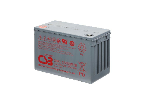 XHRL12475W - 12V 100Ah 475W AGM Extreme High Rate Long Life van CSB Battery