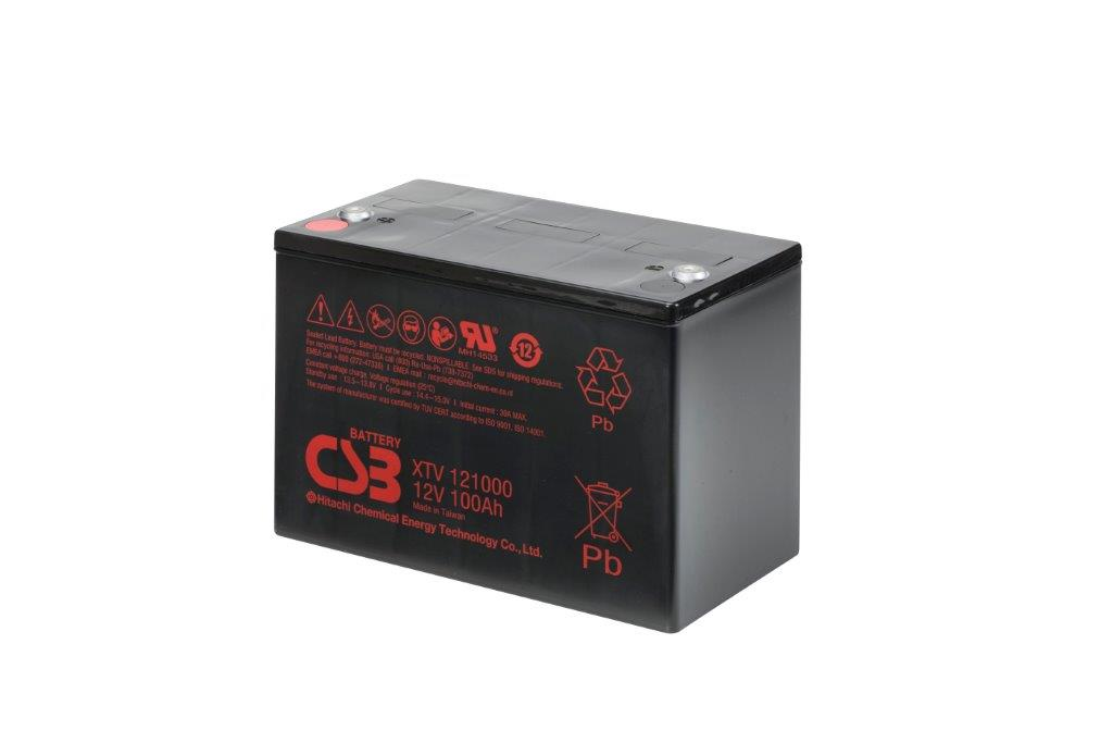 XTV121000 - 12V 100Ah AGM Extreme Temperatures Version van CSB Battery