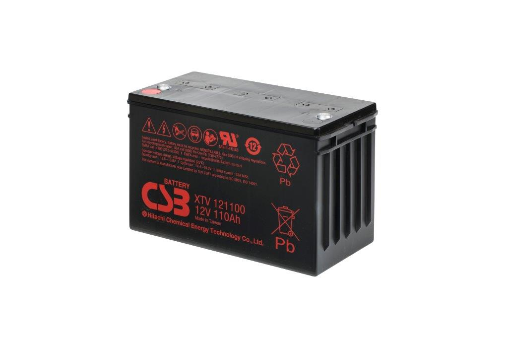XTV121100 - 12V 110Ah AGM Extreme Temperatures Version van CSB Battery