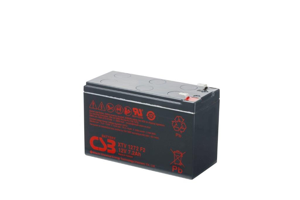 XTV1272 - 12V 7,2Ah AGM Extreme Temperatures Version van CSB Battery