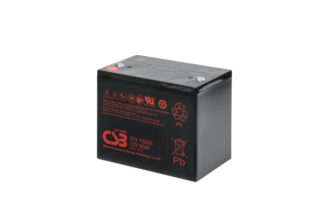 XTV12800 - 12V 80Ah AGM Extreme Temperatures Version van CSB Battery